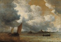 The Mouth of the River (Sailboats in a Light Breeze)